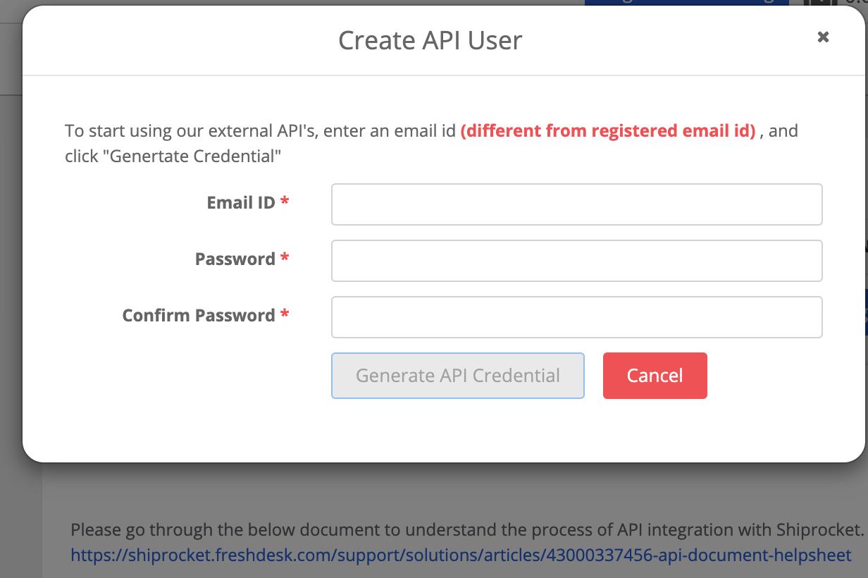 Integrate Shiprocket to Agnicart powered eCommerce website